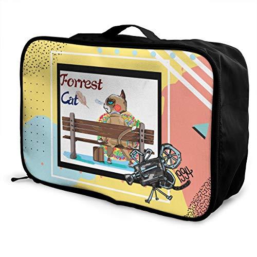 - X-K2 Multifunctional Fashion Travel Duffel Storage Bag Water Resistant Runing Gump Cross Country Man Film 1976 Lightweight Large Capacity Portable Luggage Bag