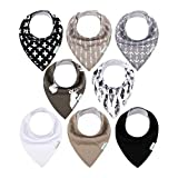 Babygoal Baby Bandana Drool Bibs 8 Pack with 3pcs