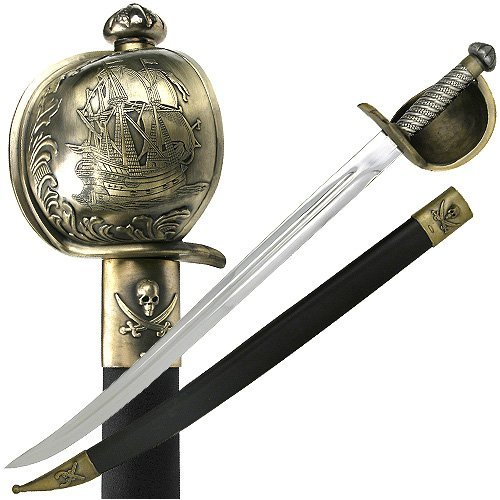 Vulcan Gear Pirate of the Caribbean Regal Pirate Sword with Detailed and Beautifully Crafted Engravings