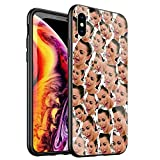 DTYZL Phone Case iPhone Xs Max,Tempered Glass Back Cover and TPU Soft Rubber Silicone Frame for Scratch and Fall Resistance DT-53 Kimoji Kim Kardashian North Kylie Jenner
