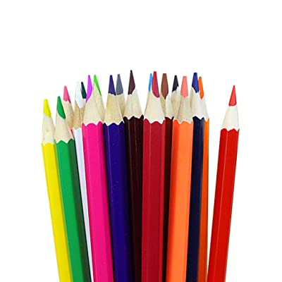 12pcs Wooden Colored Pencils Soft Core Colored Pencils, Soft, Thick Core Drawing Pencils for a Smooth Color Laydown, Pigments, Assorted Colors, School Supplies (Multi): Office Products