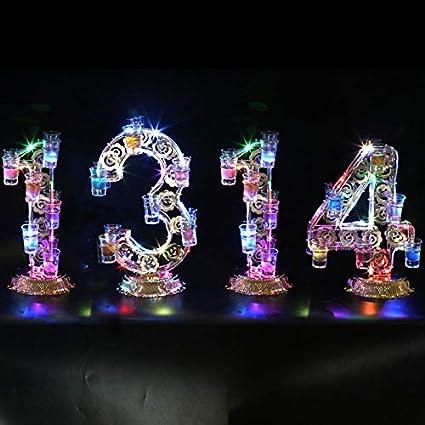 DGEG Soportes para Copas, Portavasos De Colores LED KTV Bar 1314-48 Agujero De