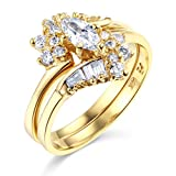 Best TWJC Wedding Collection Wedding Ring Sets - TWJC 14k Yellow Gold SOLID Wedding Engagement Ring Review