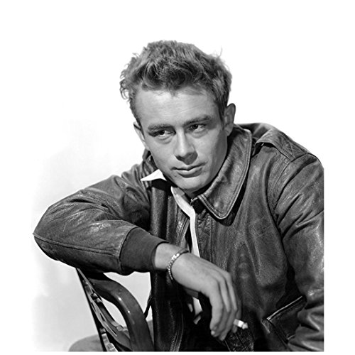 James Dean Seated on Chair Smoking a Cigarette 8 x 10 Inch Photo
