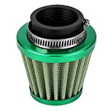 Qiilu 38mm Air Filter Intake Induction Kit for Off-Road Motorcycle ATV Quad Dirt Pit Bike (Green)