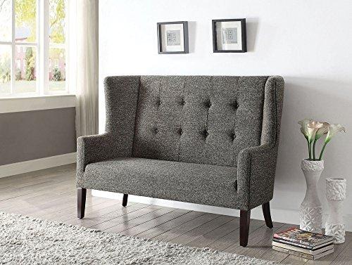 ACME Paloma Gray Fabric Settee