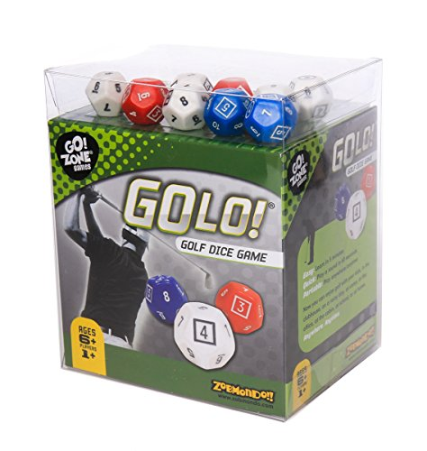 Dice Of Game Life (GOLO Golf Dice Game | For Golfers, Families, and Kids | Portable Fun Game for Home, Travel, Camping, Vacation, Beach | Award Winner)