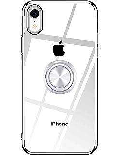 7d5c4b04315 iPhone Xr ケース クリア リング付き OURJOY iphonexr ケース ストラップホール付き 耐衝撃 メッキ マグネット