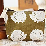 Polytree Printed Canvas Change Coin Purse Holder