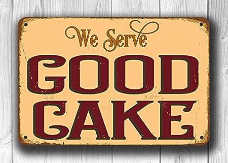 Letrero para tartas estilo vintage con texto en inglés