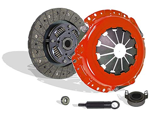 Toyota Celica Clutch - Clutch Kit Works With Corolla Matrix Vibe Mr-2 Celica Prizm Base Core Premium Rs S Ce Le Xr Xrs Ve Lsi Gsi 1991-2011 1.5L l4 GAS DOHC Naturally Aspirated (Stage 1; Flywheel Spec: +.020;)
