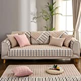 AQAWAS Home Couch Protector, Polyester Winter Non-Slip Korean Sofa Cover Towel, Machine Washable Can be Used as a Sofa Cushion/Back Towel/arm Towel/Bay Window Cushion,Beige_70180cm(2871in)