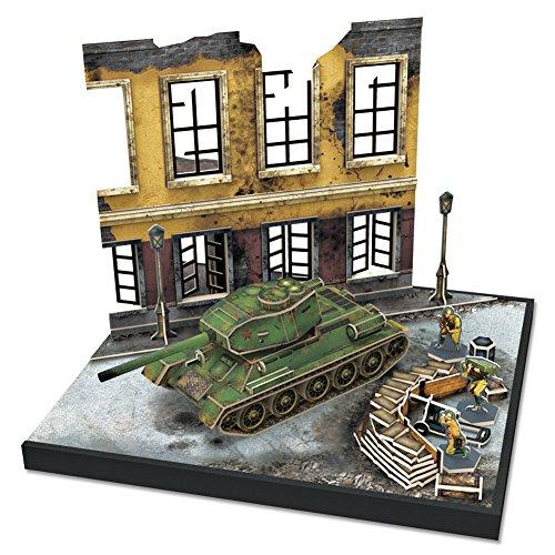 CubicFun JS4202h ArmiBuild Military Scenic Model Army Tank Soviet T34/85 3D Puzzle, 213 Pieces (Scenes Best Battle)