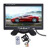 AGPtek® 7 inch TFT LCD Car Rear View Monitor With Wireless Night Vision Car Backup Camera