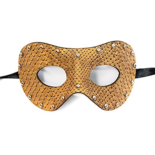 Mardi Mask Leather Gras (Brown Snake Leather Mask Venetian Masquerade Mask Event Party Ball Mardi Gars Halloween)