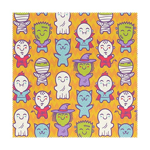 Lovexue Placemats Cosplay Children Halloween Costumes Square Place Mats for Dining Table Set Heat Resistant Washable Polyester Kitchen Table Mats Set of 4 ()