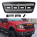 Seven Sparta Grill for F150 2004-2008 Raptor Style Grill, Grill Replacement for Ford (Matte Black)