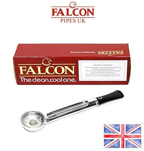 (Falcon Standard Chrome Straight Tobacco Pipe Stem 7122A)
