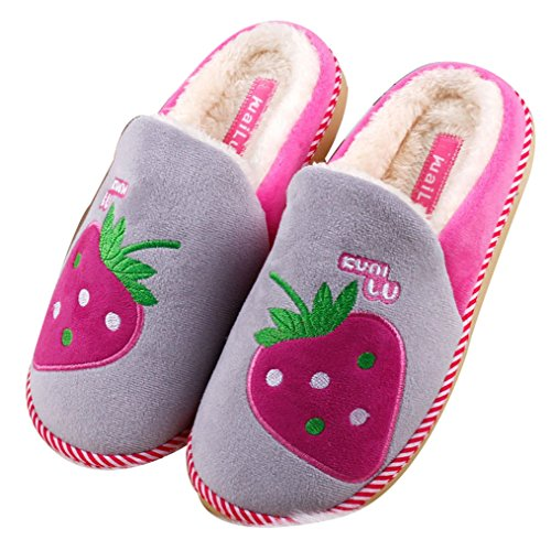 Blubi Mujeres Warm House Zapatillas Funny Slippers Cute Zapatillas Gris