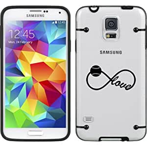 Black Samsung Galaxy Ultra Thin Transparent Clear Hard TPU Case Cover Infinity Infinite Love for Baseball Softball (Black for S5)