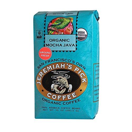 - Jeremiah's Pick Coffee Organic Mocha Java Ground Coffee, 10-Ounce Bags (Pack of 3)