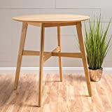 Helen Natural Oak Finish Wood Counter Height Table For Sale