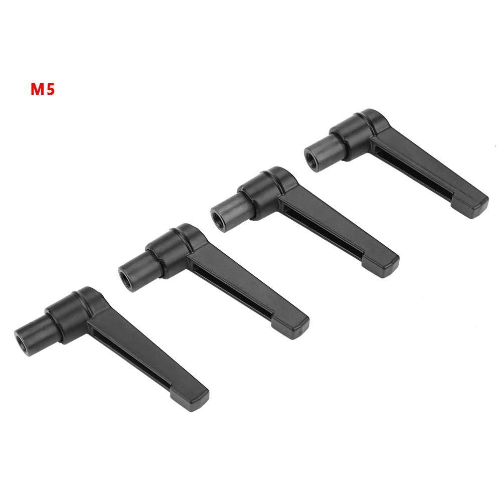 M4 Hyuduo 4 ST/ÜCKE Verstellbarer Griff Metall Maschine Kn/öpfe Befestigung Einstellbare Klemmhebel Edelstahl M4 5//6//8//10//12 mit Innengewinde