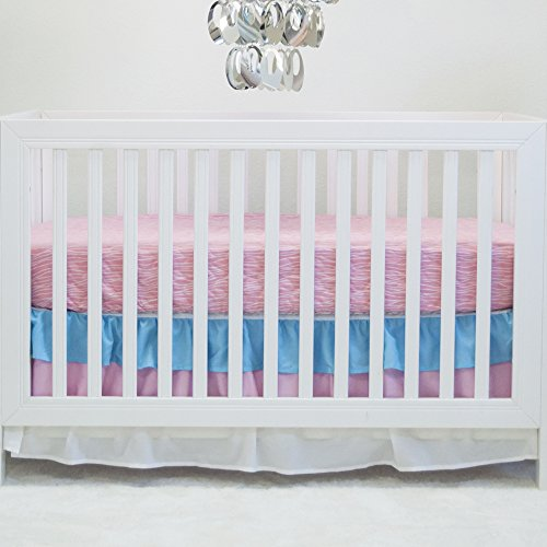 Pam Grace Creations 2 Piece Peacock Basics Crib Bedding Set, Aqua (Crib Bedding Pink And Aqua)