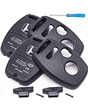 (2 PACK) Compatible with Honda (NO CUTTING) Replacement Key Fob shell case cover phob fits 2005-2017 Civic CR-V CR-Z Fit Pilot Odyssey Insight Accord Crosstour - (3 Buttons)