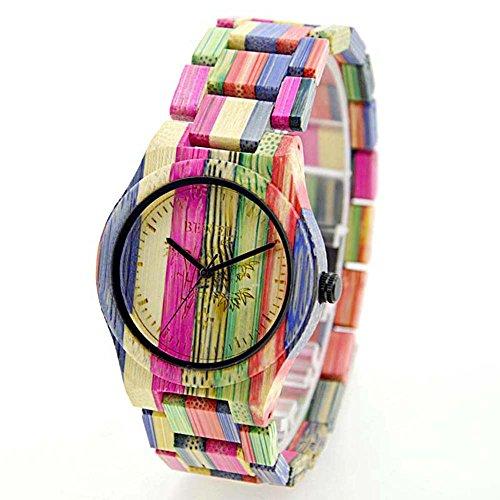 200m Bracelet Case (Rainbow Watches, Joberry Quartz Analog Lover's Wrist Watch Wooden Band Vintage Retro Wristwatch (Men))