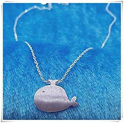 Sterling Silver Whale Necklace