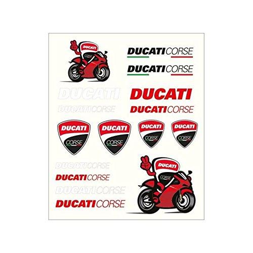 Ducati Corse Sticker - Pritelli 1856011Sticker Set Stickers Ducati Corse, Medium