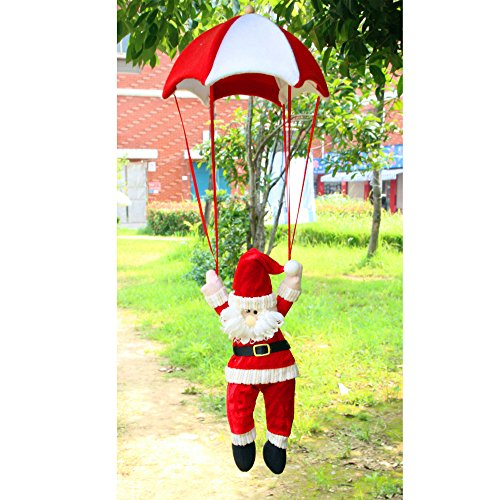 - Xmas Ornament, Misaky Christmas Tree Hanging Santa Claus Snowman In Parachute Decoration