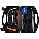 Rovtop 15 in 1 Handsaw Set for Cutting Wood, Plastic, Glass, Tile, Metal, Rope, PVC Pipe, Rubber,Woodworking Tools,Hacksaw Blades Tool Case