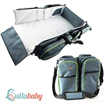 TRAVEL PORTABLE BASSINET DIAPER BAG - 3 in 1 Portable Changing Station, Travel Crib, & Diaper Bag   Bonus Stroller Attachment   Perfect Travel Bassinets for Babies & Travel Accessory