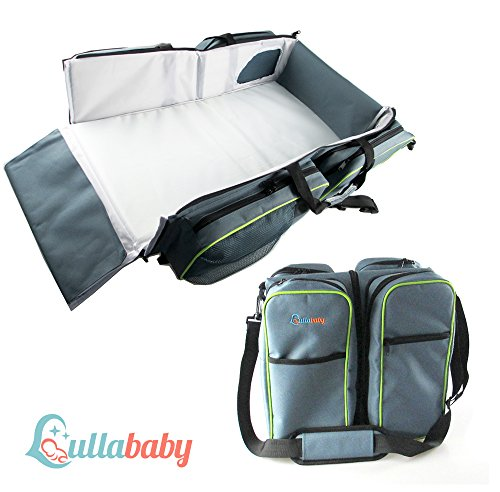 TRAVEL PORTABLE BASSINET DIAPER BAG - 3 in 1 Portable Changing Station, Travel Crib, & Diaper Bag | Bonus Stroller Attachment | Perfect Travel Bassinets for Babies & Travel (Travel Cot Bassinet)