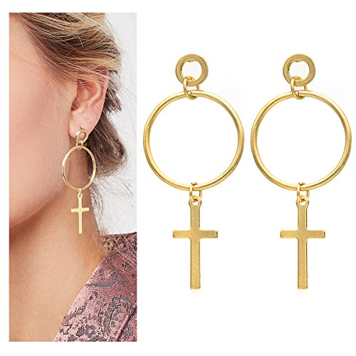 Wowanoo Fashion Alloy Dangle Drop Earrings Simple Circular Sequins Jewelry for Women CCircle