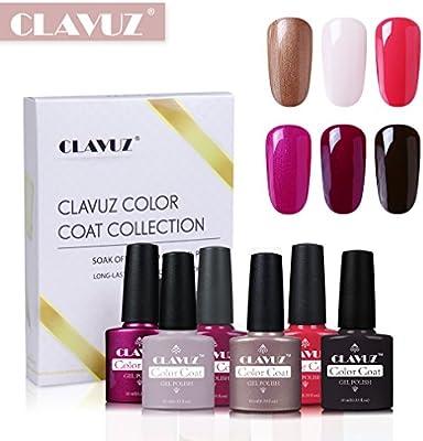 Esmaltes de Uñas Semipermanente Esmaltes en Gel UV LED 6pcs Kit de Manicura Soakoff 10ml de Clavuz: Amazon.es: Belleza