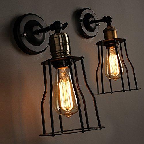 FAYM - Vintage Ferro Industriale Lampada Lampada Da Parete Il Ristorante Café Personalità Letterarie Ripiani Di Ferro Lampada Da Parete , Elettroplaccatura Lampada In Alluminio