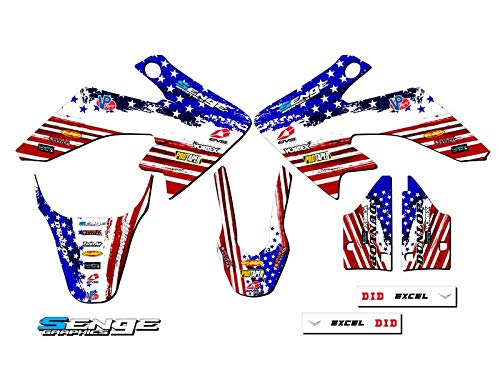 Senge Graphics Kit Compatible with Honda 2004-2012 CRF 50 Merica Graphics kit
