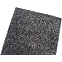 Outdoor Turf Rug / Aisle Runner – SQUARE 12X12 GRAY BLACK – 1/4 Thick - 8 oz. Artificial Grass with Premium BOUND Nylon Edges. 8 Oz. - 100% UV olefin. Light Weight Marine Back. Many Custom Sizes & Shapes Available