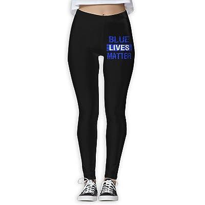 DDCYOGA Blue Lives Matter Women's Power Flex Yoga Pants Fitness Yoga Sport Leggings For Girls
