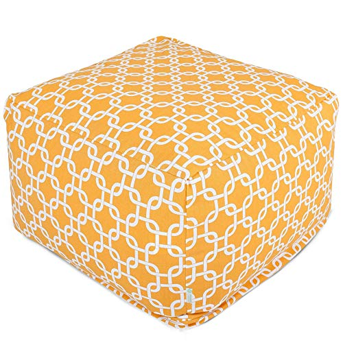 Majestic Home Goods Yellow Links Ottoman, Large