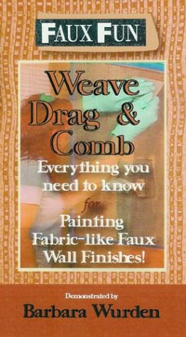 Faux Fun - Weave, Drag & Comb: Everything you need to know for painting fabric - like Wall Finishes -