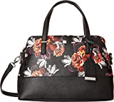 Nine West Women's Dealinh Times Satchel Black Floral One Size