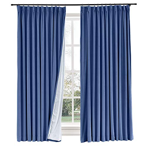 Curtains Your Way Blackout Room Darkening and Thermal Insulating Window Curtains/Panels/Drapes Ocean Blue/Ultramarine Blue Color 50 by 84 Inch 1 -