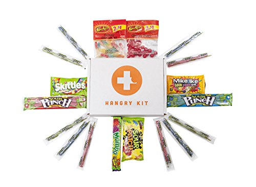 Hangry Kit - Super Sour Candy Kit - Sampler - Care Package - Gift Pack - Variety of 18 Sour Candies Included - 100%