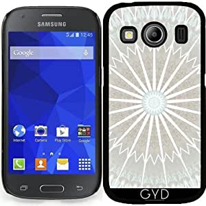Funda para Samsung Galaxy Ace 4 (SM-G357) - Pálida Mandala Azul Y Marrón by Nina Baydur