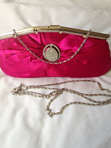 Desire Accessories, Poschette giorno donna Rose Pink with Diamante crystal detail