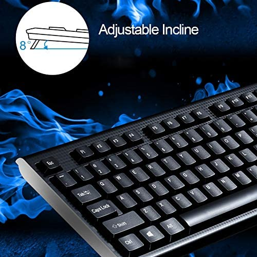 Color : Black Black Wired Keyboard ZGB Q9 104 Keys USB Wired Grid Texture General Gaming Office Keyboard